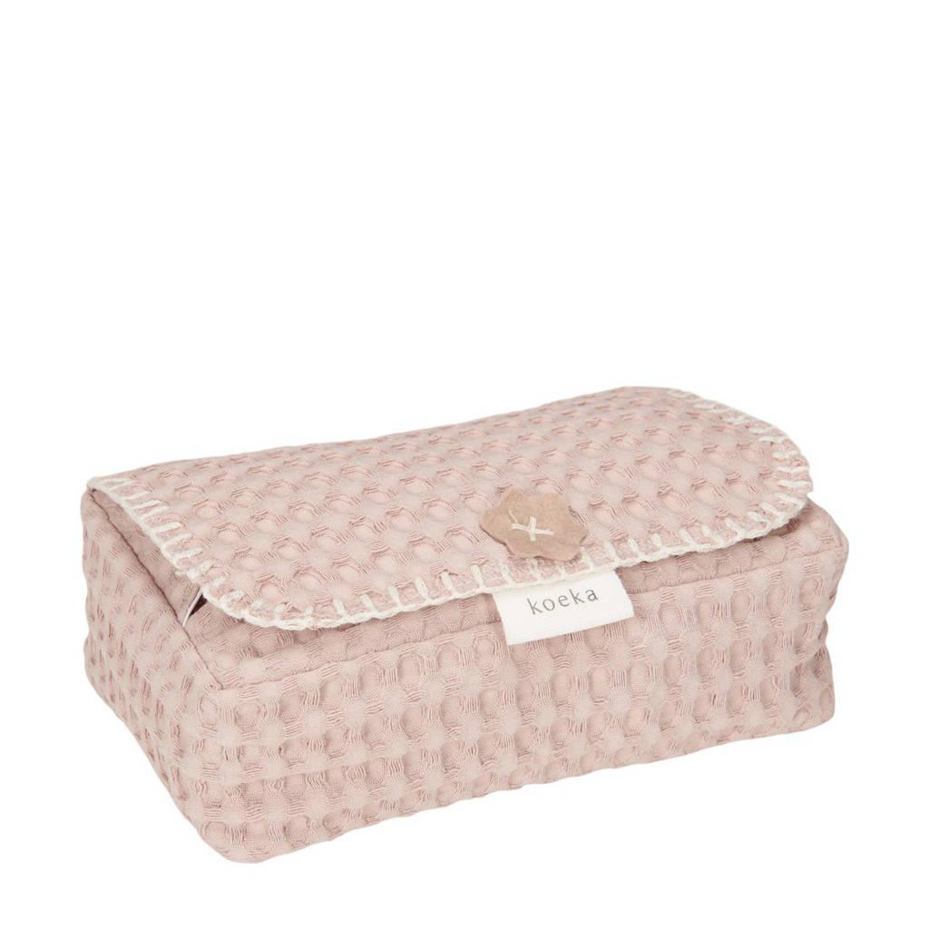 Koeka Antwerp babydoekjeshoes grey pink, Oudroze