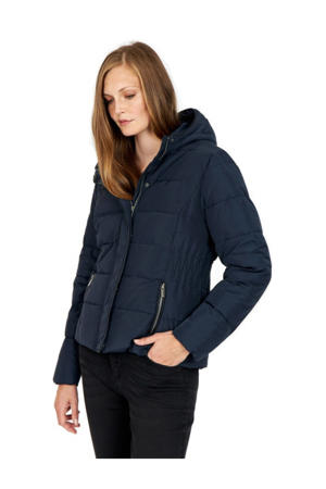 gewatteerde jas Nina donkerblauw