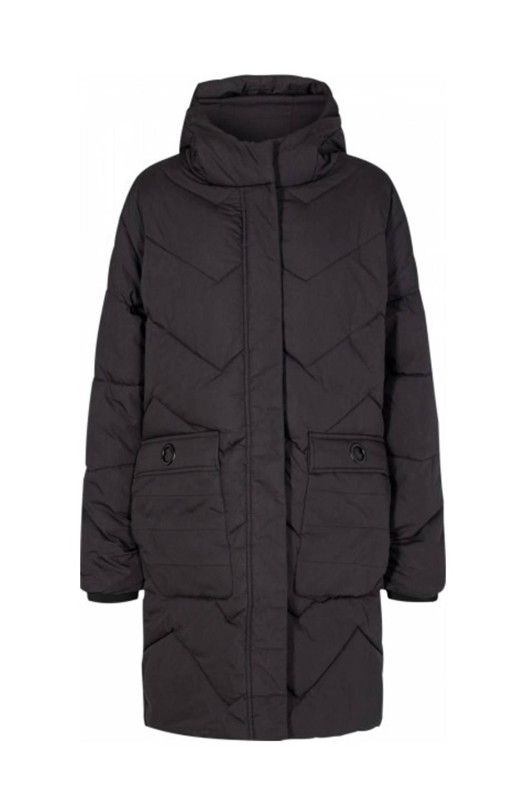 Soyaconcept gewatteerde jas SC-MILKA 2 zwart, Zwart