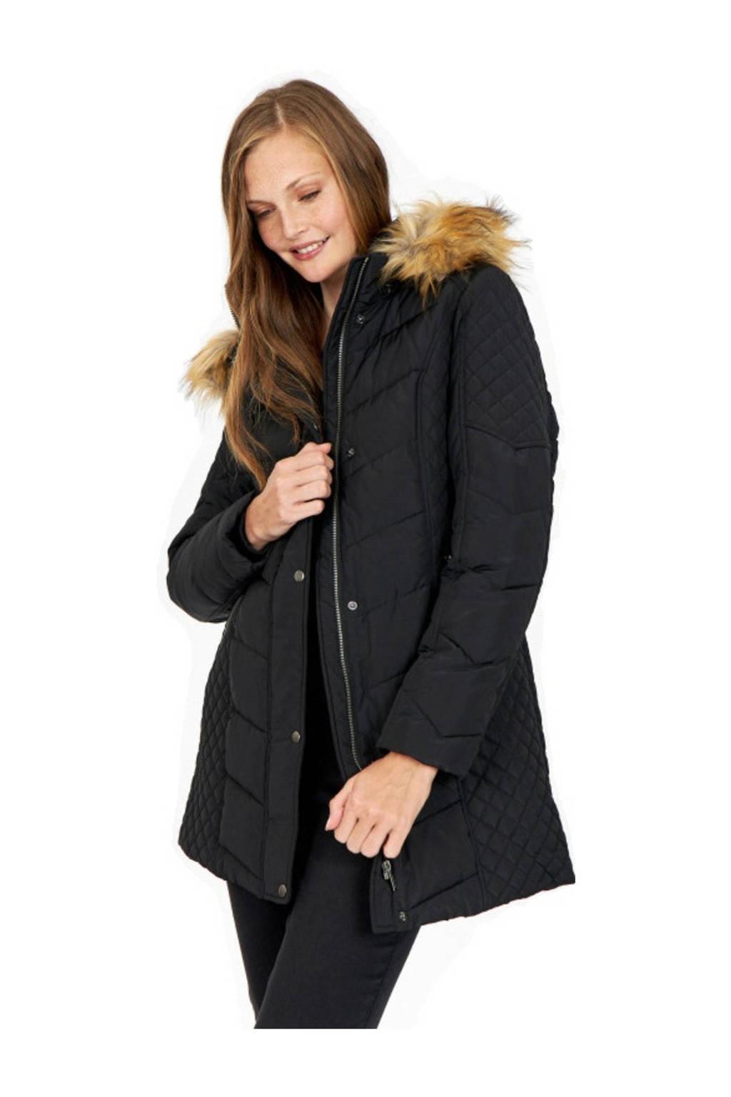 Soyaconcept gewatteerde jas Nina zwart, Zwart