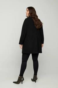 Zizzi  coat Amber zwart, Zwart