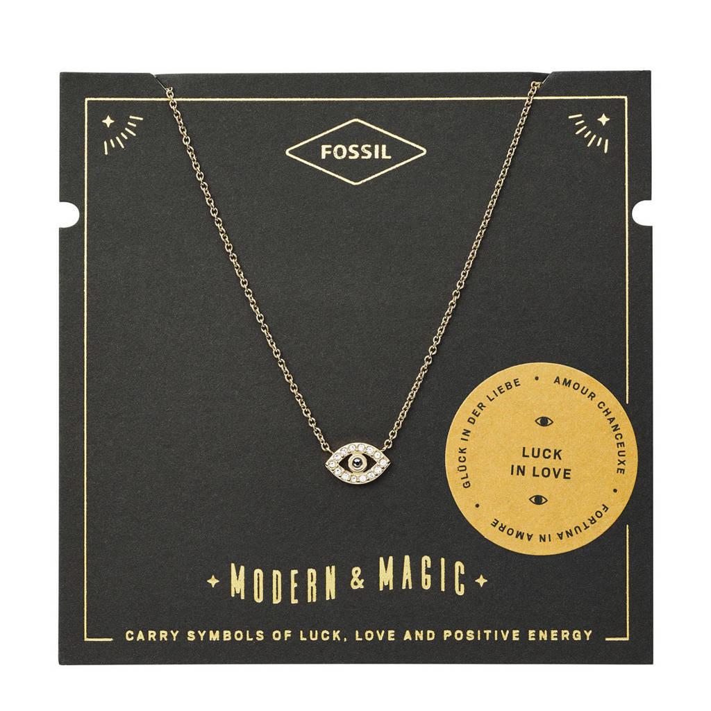 Fossil Vintage Motifs Dames Collier JF03382710, Goud