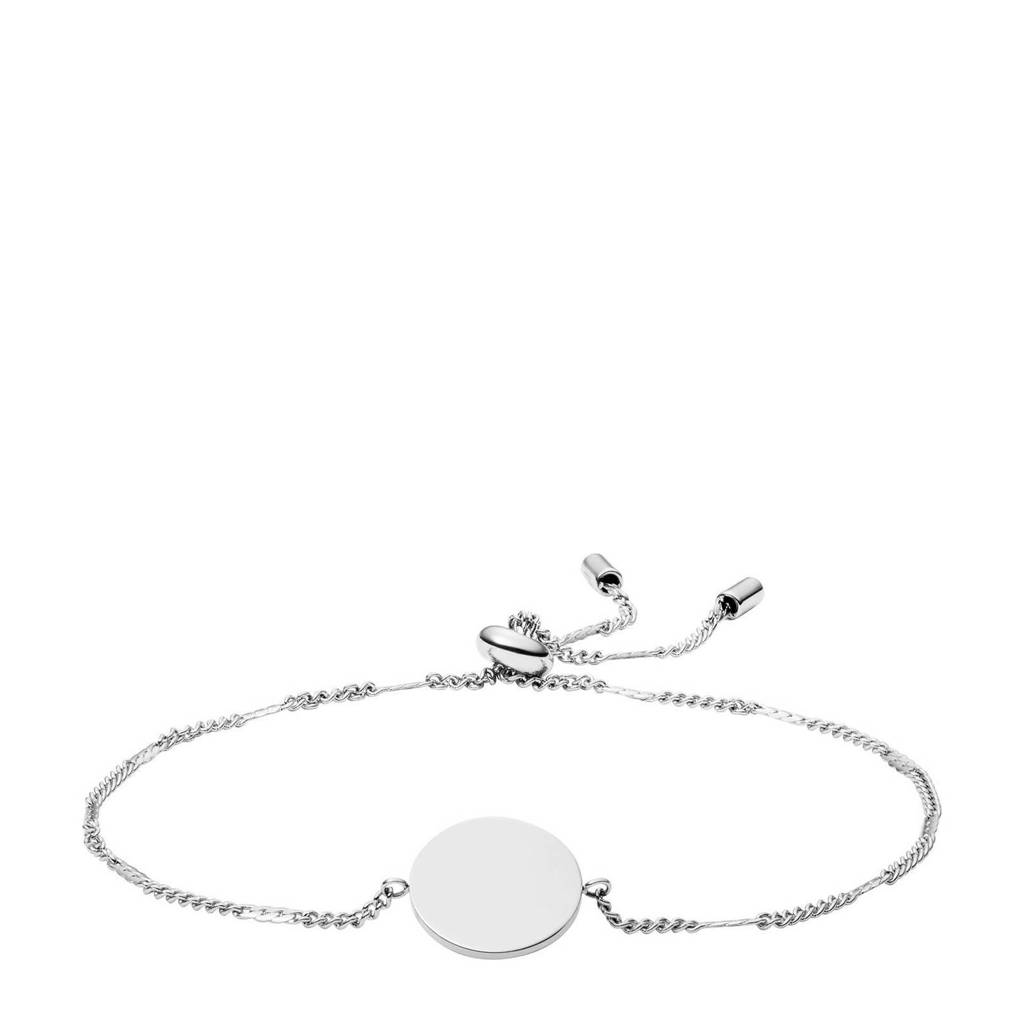 Fossil armband JClassic F03168040 zilver, Zilver