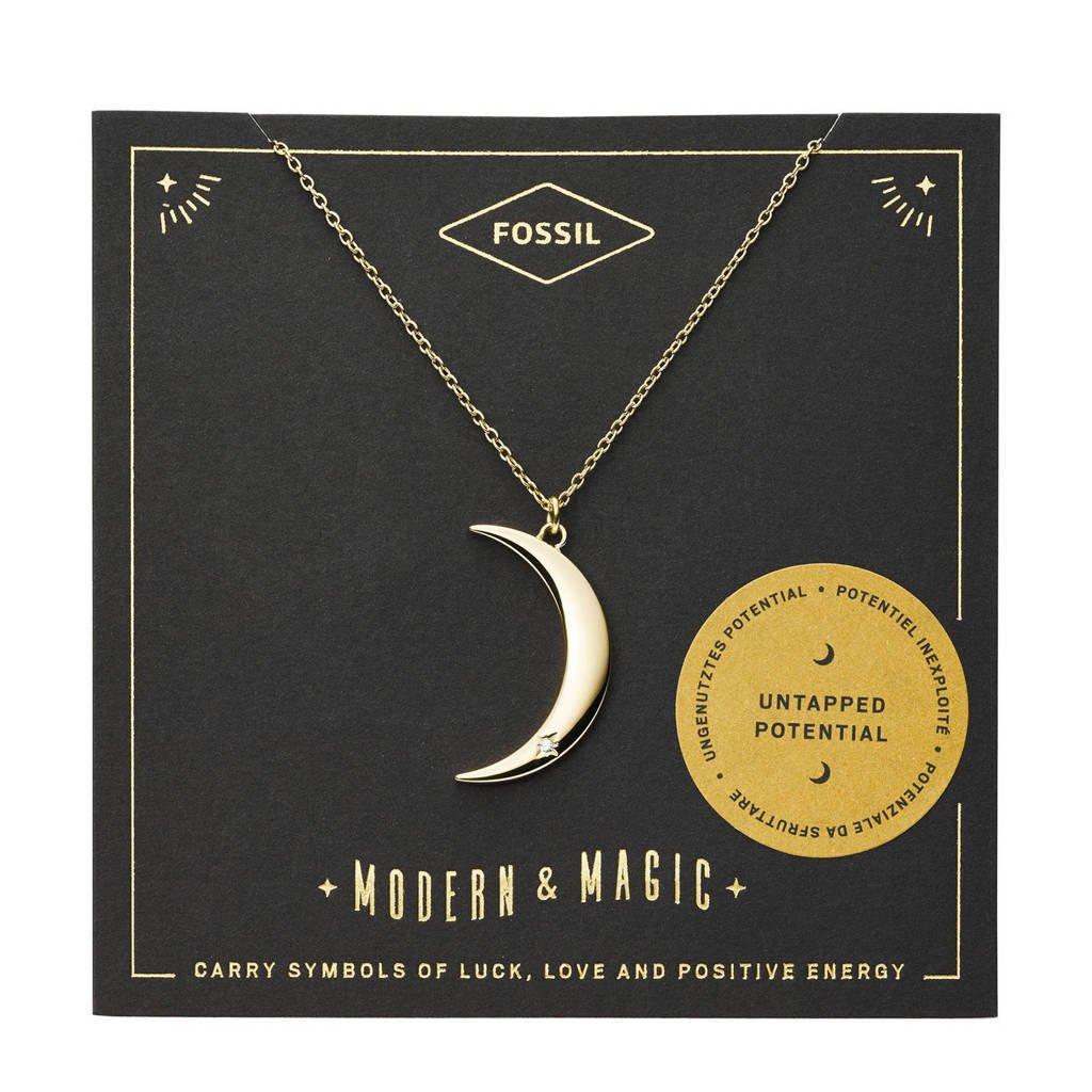 Fossil Vintage Motifs Dames Collier JF03379710, Goud