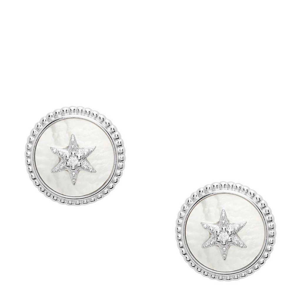 Fossil oorbellen JFS00500040 zilver, Zilver