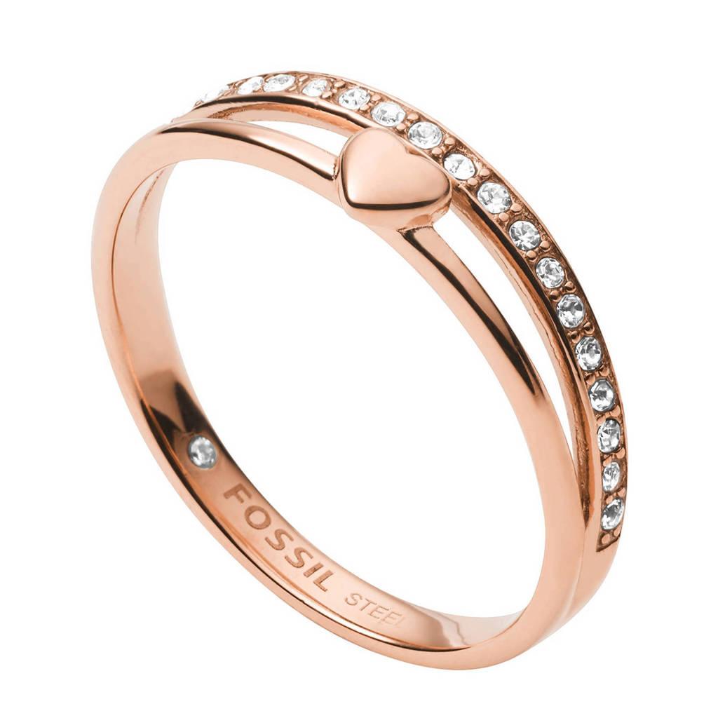 Fossil ring  Vintage Glitz JF03460791, Rosé