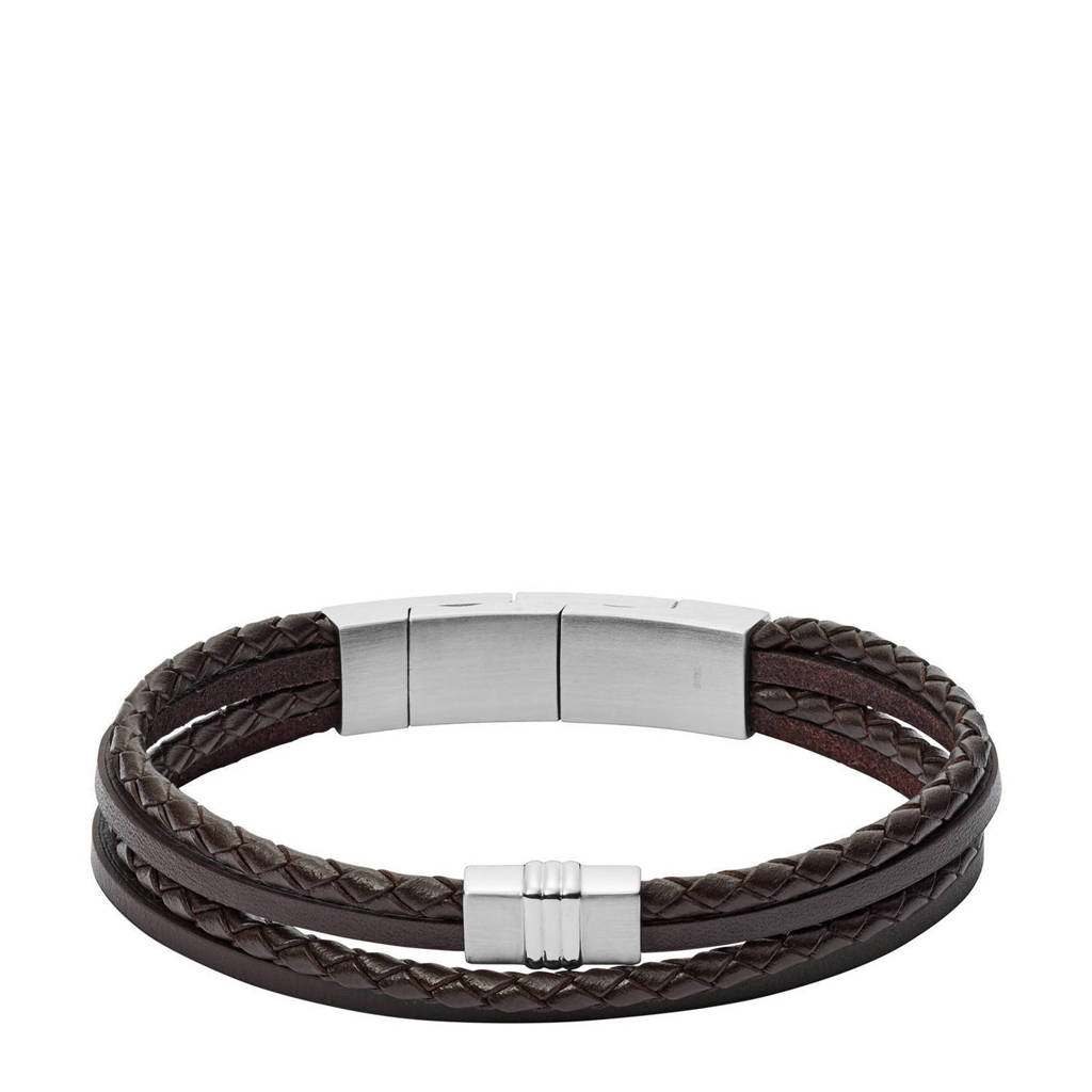 Fossil Vintage Casual Heren Armband JF02934040, Bruin