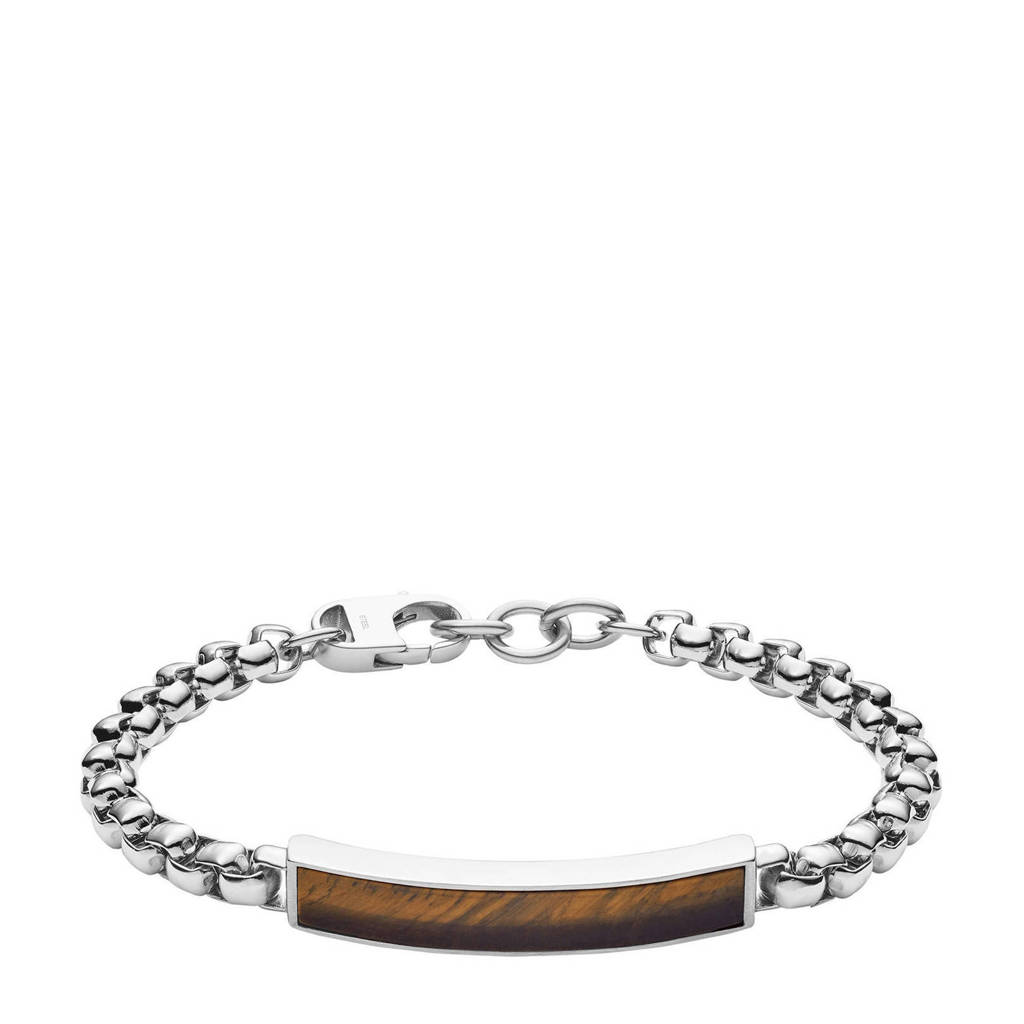 Fossil armband JF03447040 zilver, Zilver