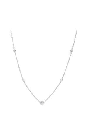 Sterling Silver Dames Collier JFS00453040