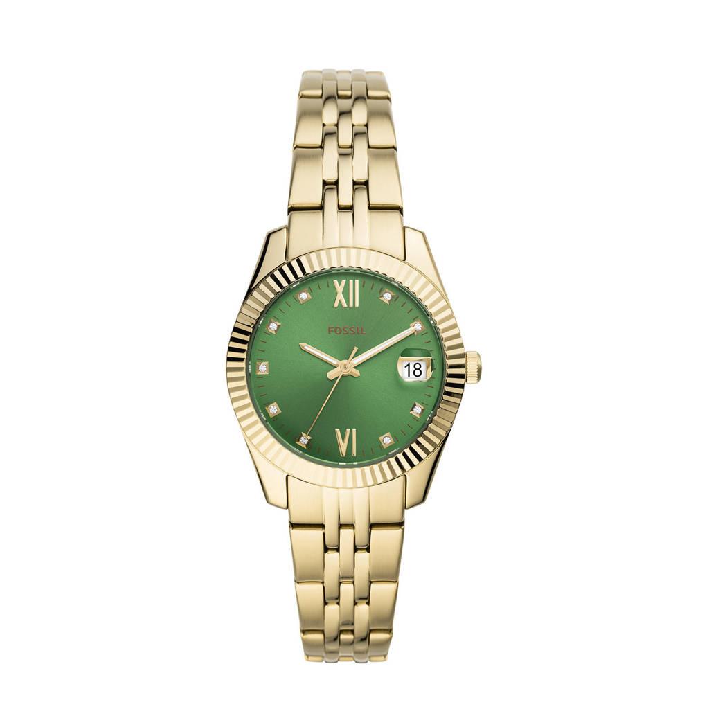 Fossil Scarlette Mini Dames Horloge ES4903, Goudkleurig