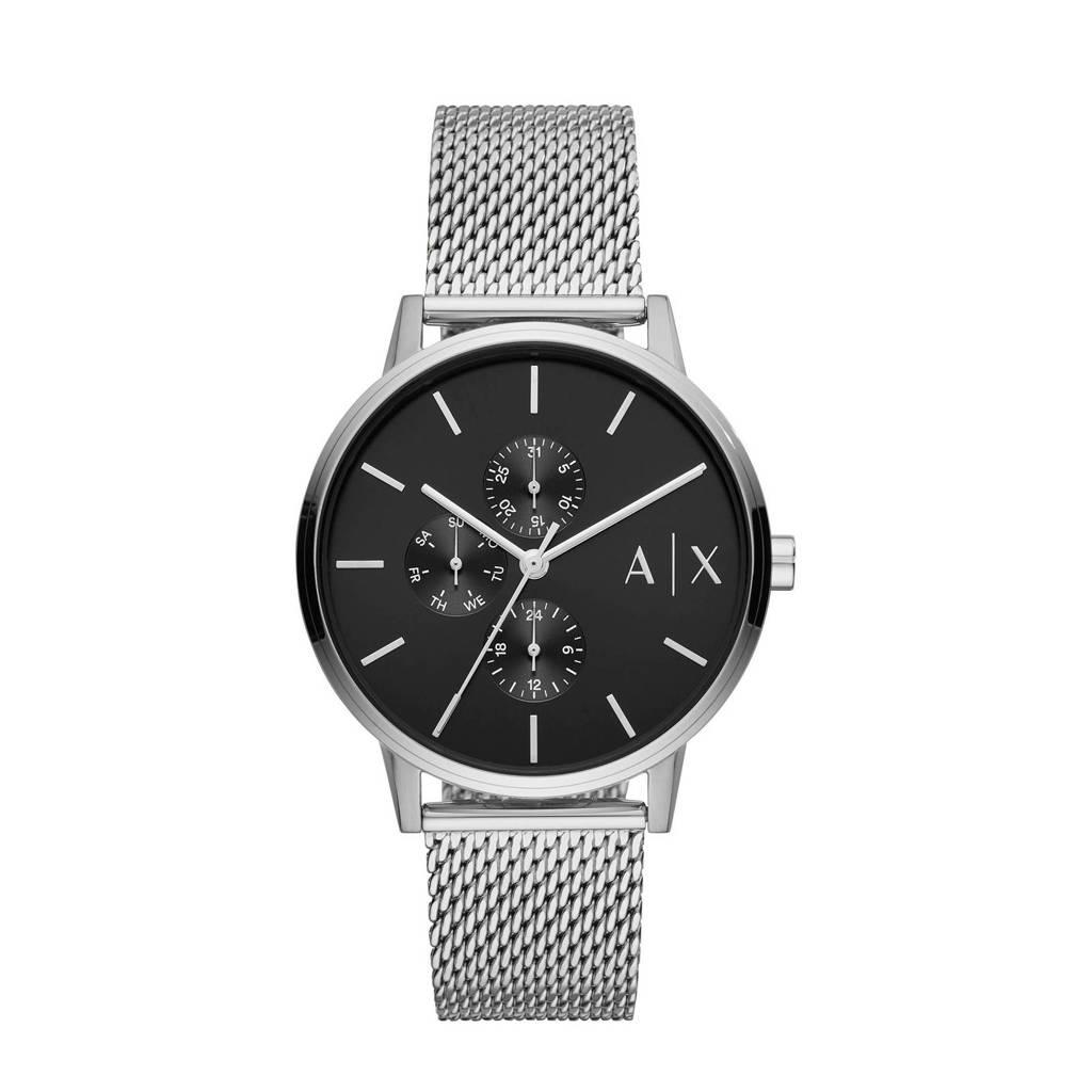 Armani Exchange horloge Cayde AX2714 zilver, Zilver
