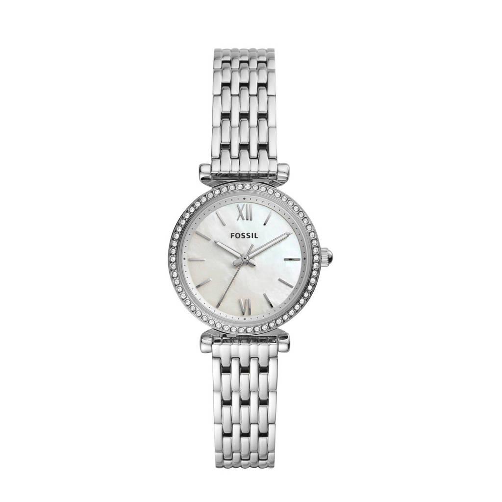 Fossil horloge Carlie Mini  ES4647 zilver, Zilver