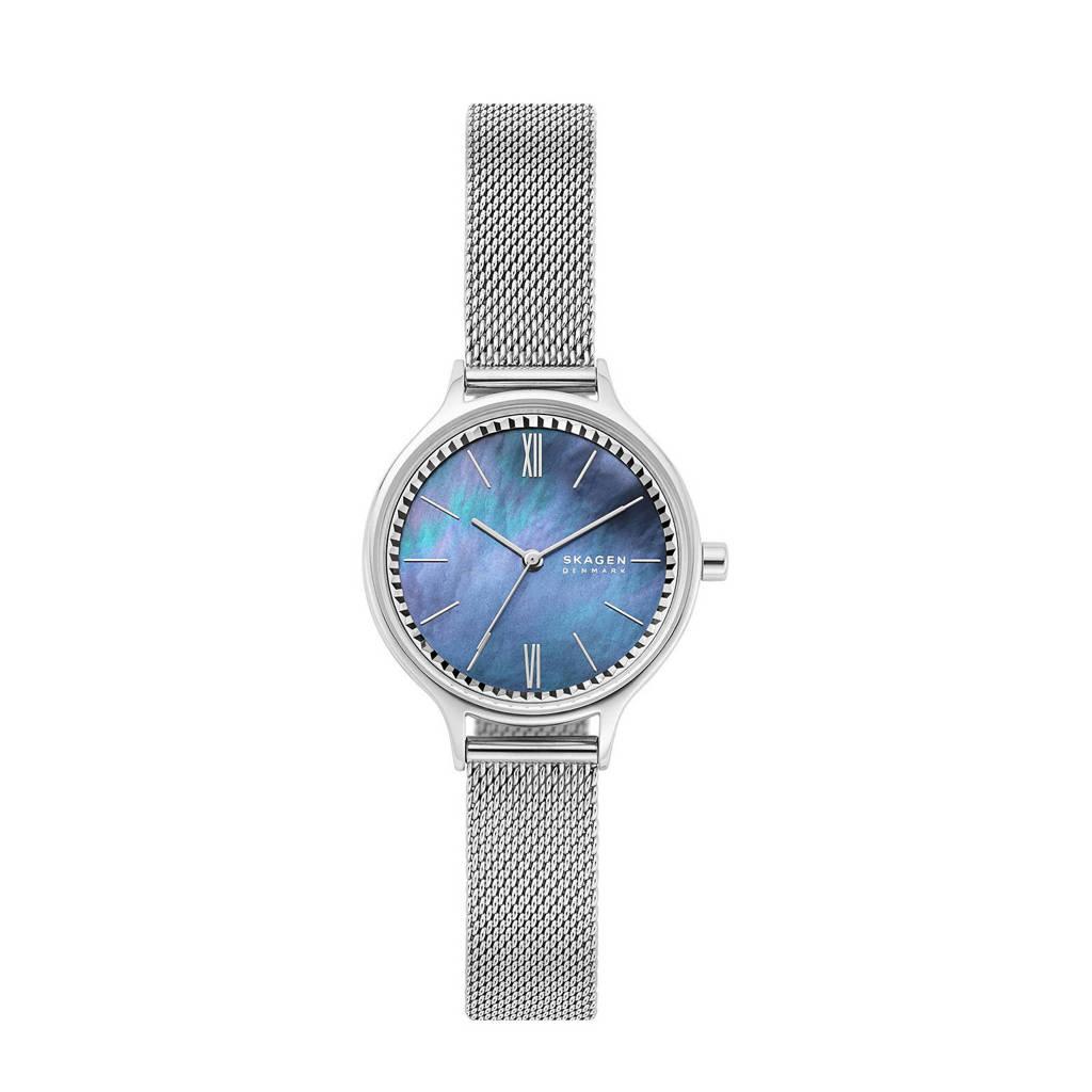Skagen horloge Anita SKW2862 zilverkleur/blauw, Zilver