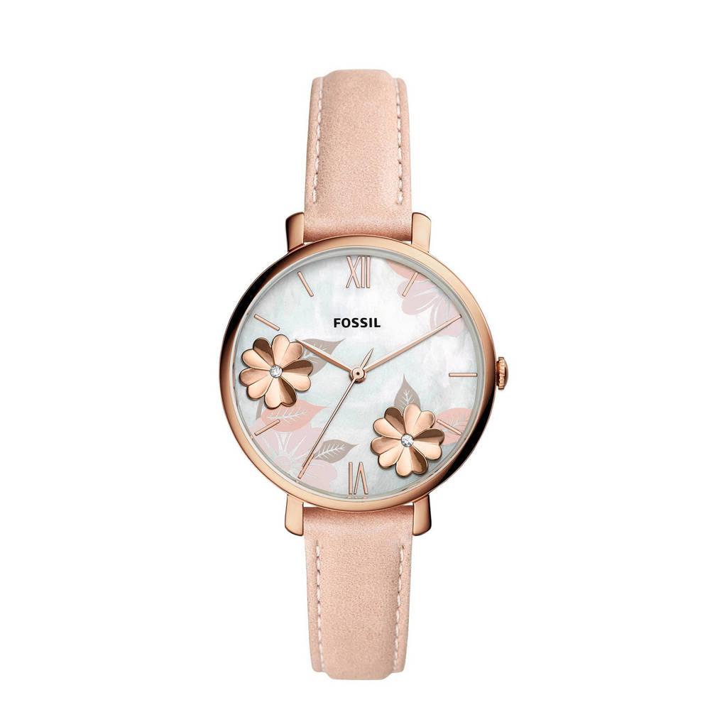 Fossil Jacqueline Dames Horloge ES4671, Nude/roségoud