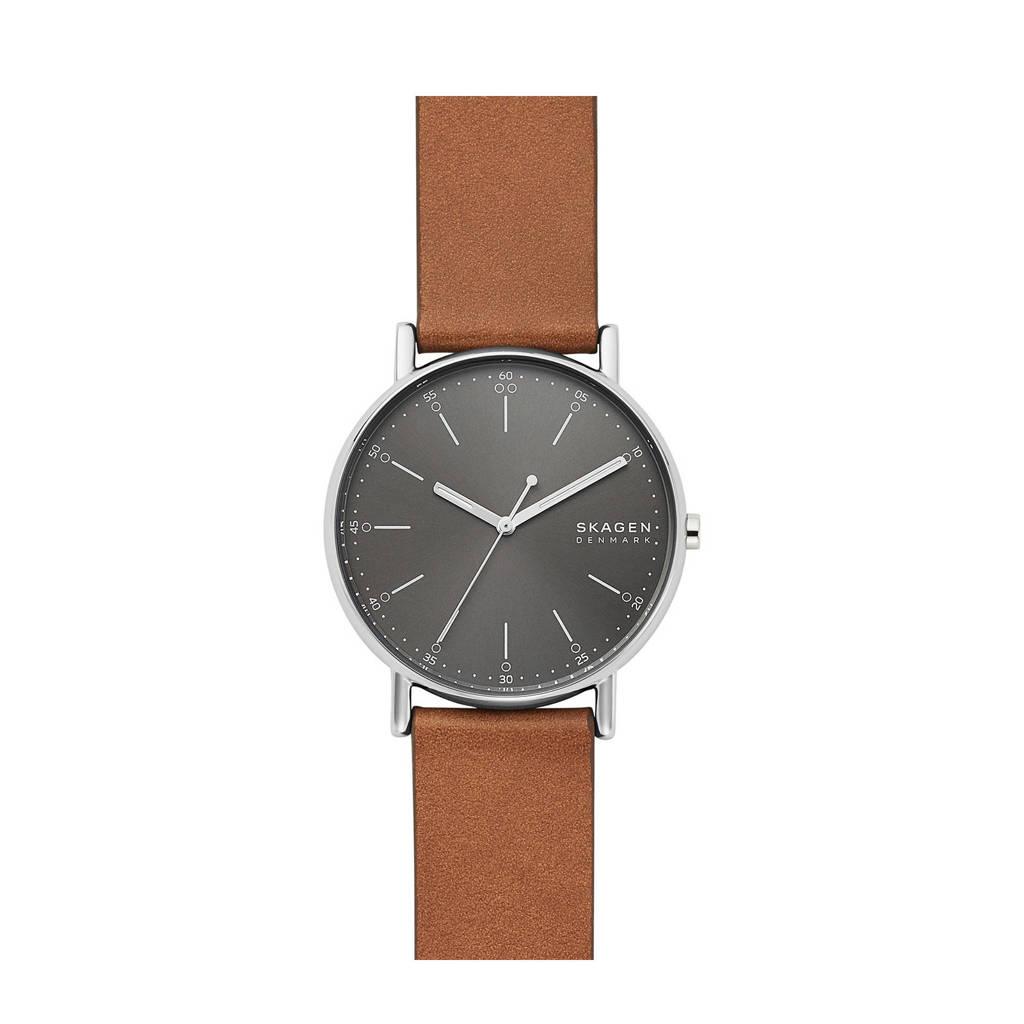 Skagen horloge Signatur SKW6578 bruin, Bruin