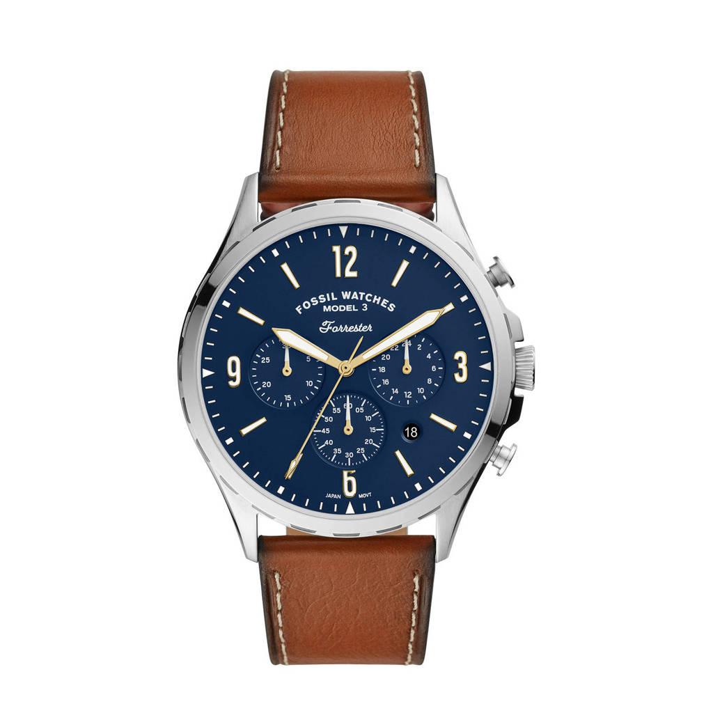 Fossil horloge Forrester Chrono FS5607 zilverkleur, zilverkleur/bruin