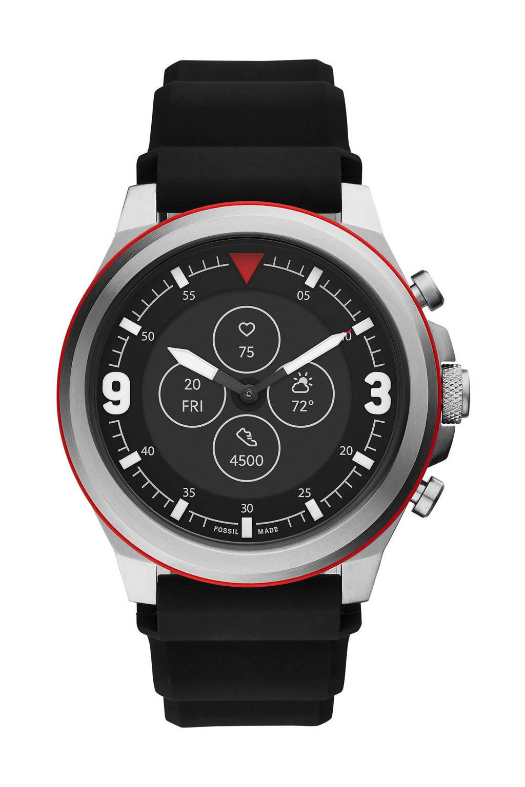 Fossil Latitude Hybrid HR Smartwatch FTW7020, Zwart