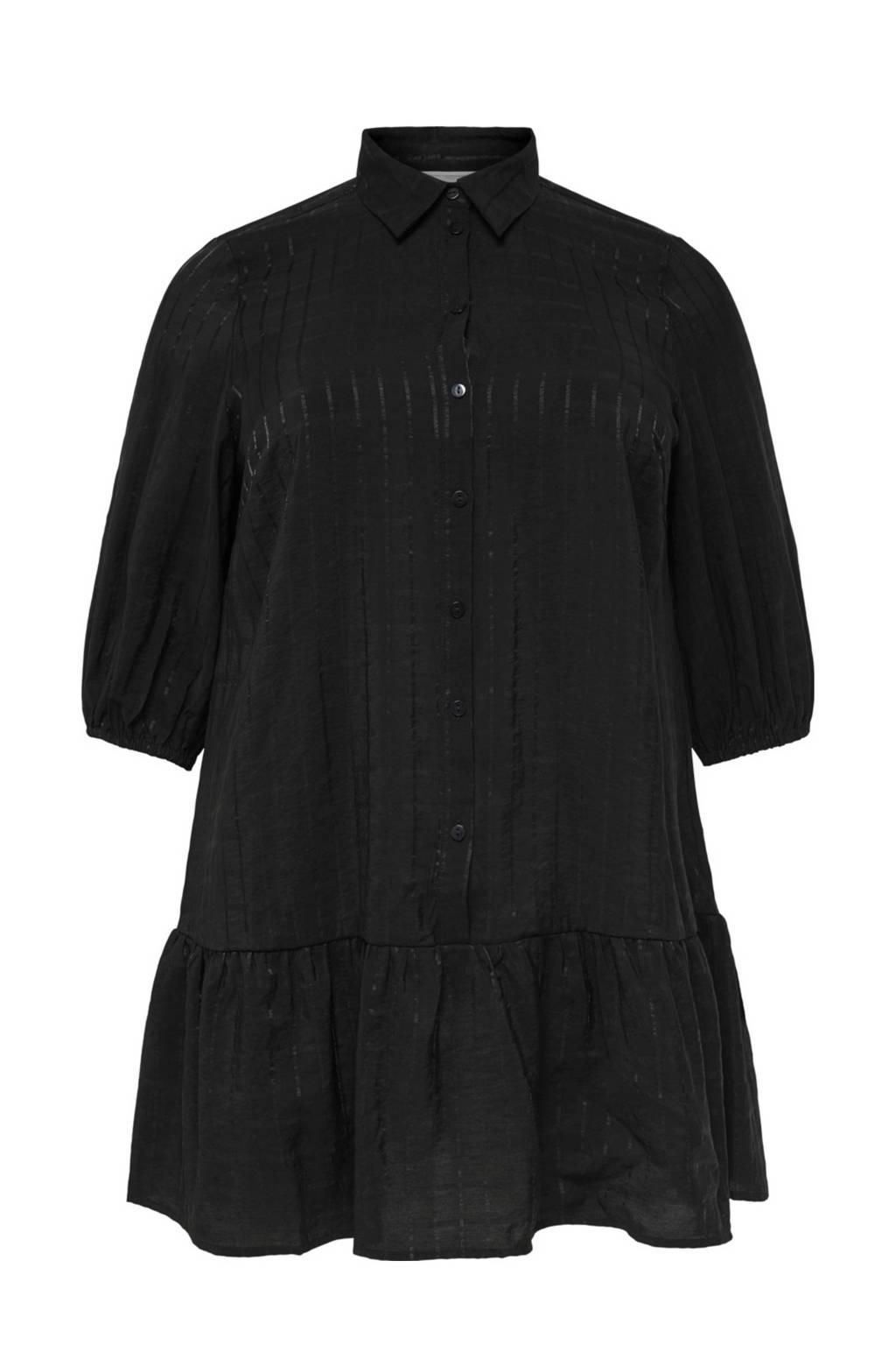 ONLY CARMAKOMA blousejurk zwart, Zwart