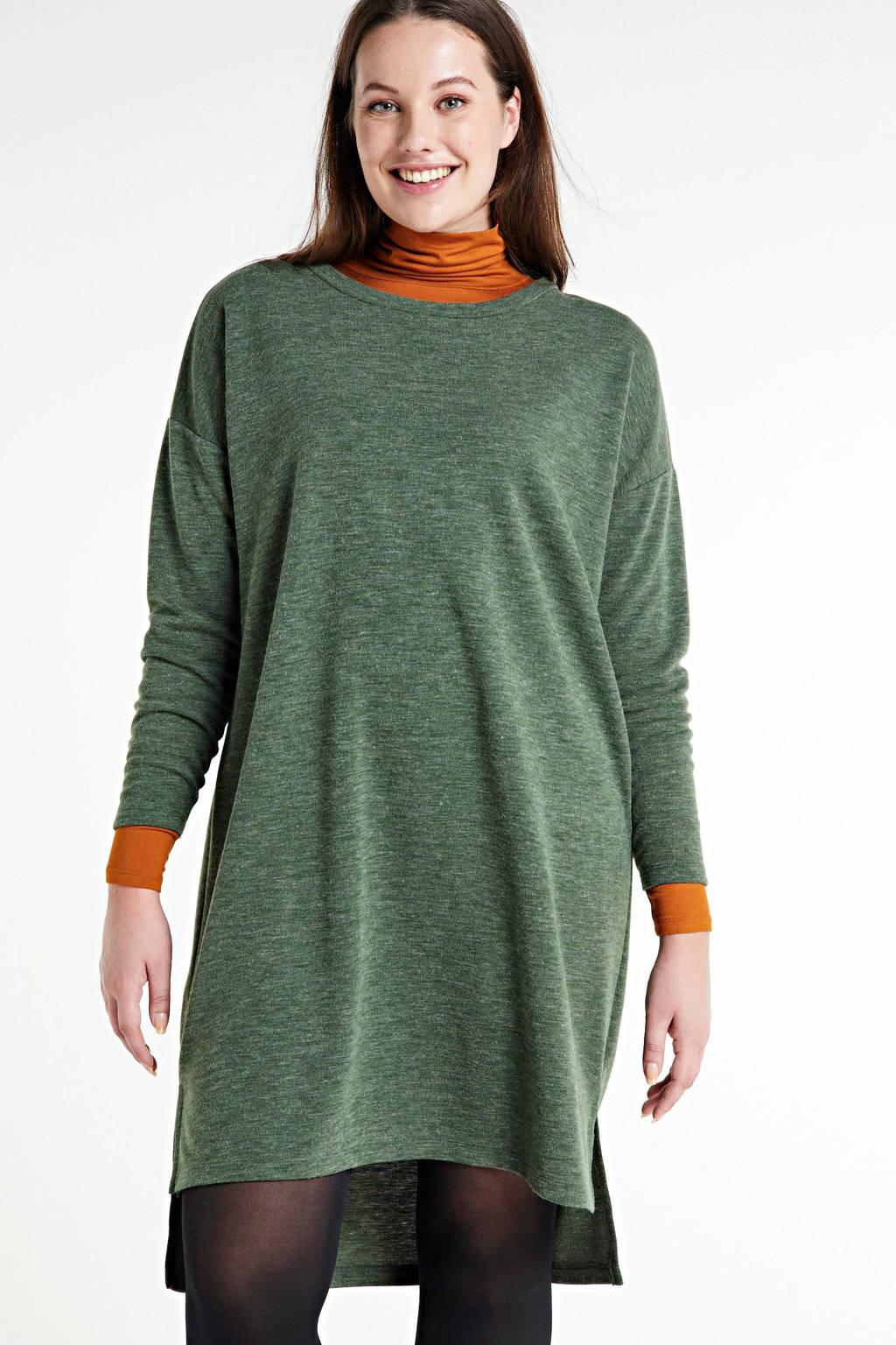 VERO MODA CURVE gemêleerde gebreide jurk Amaimarco groen, Groen