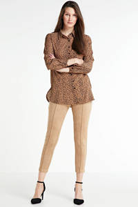 Zabaione blouse met all over print camel, Camel