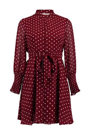 blousejurk met stippen rood