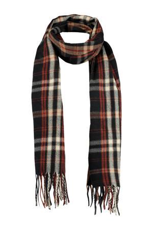 sjaal Adrian donkerblauw/rood