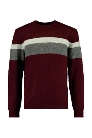 gestreepte trui Karter rood/donkerblauw