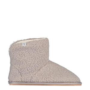 teddy pantoffels grijs