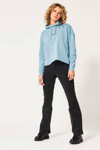 America Today high waist flared jeans washed black