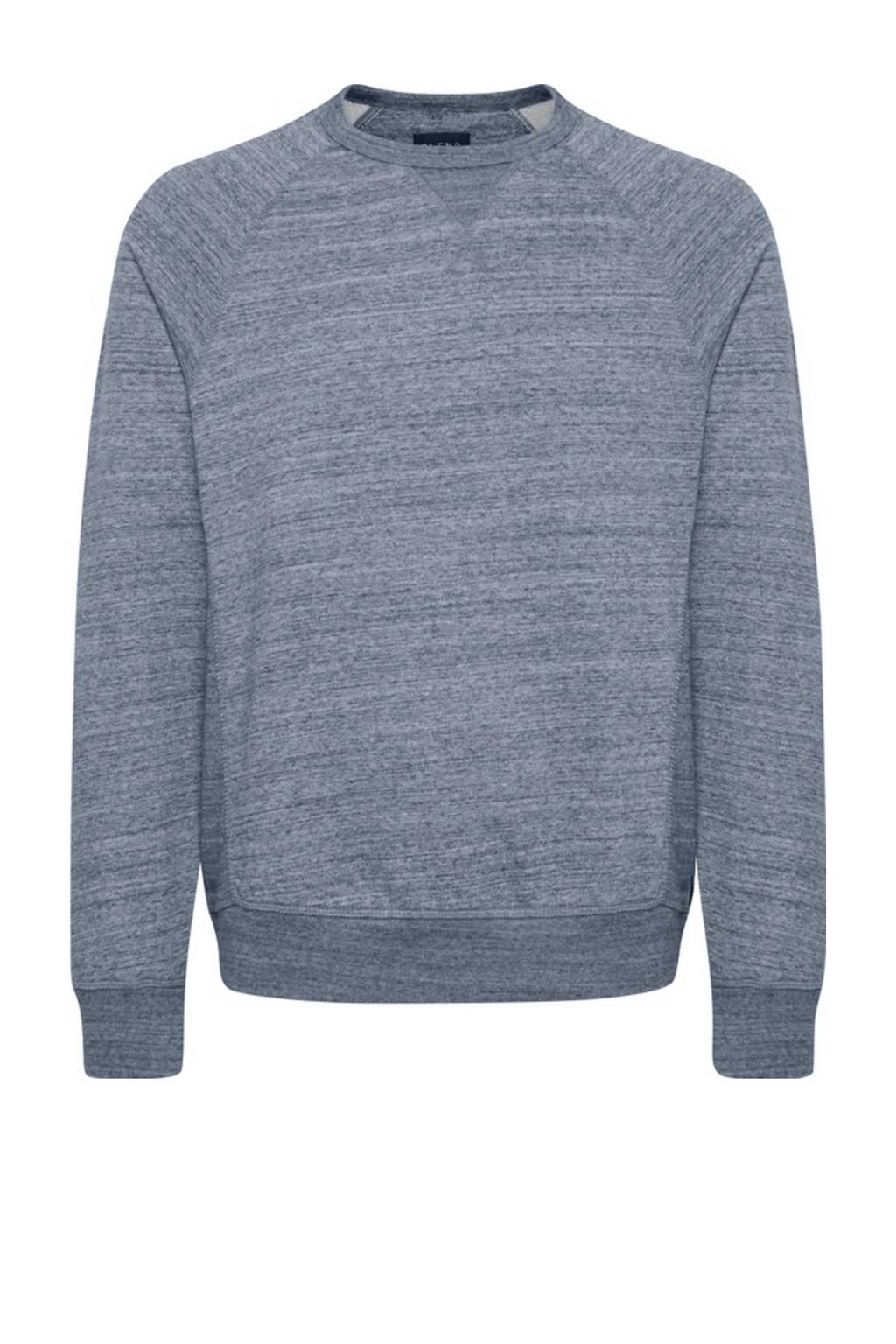 Blend gemêleerde sweater blauw, Blauw