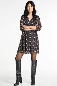 Hailys blousejurk Carlotta met all over print zwart, Zwart