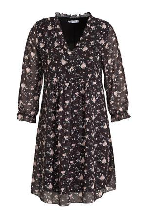 blousejurk Carlotta met all over print zwart