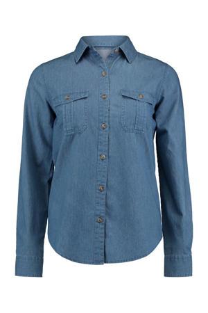 blouse LS C BL Alia blauw
