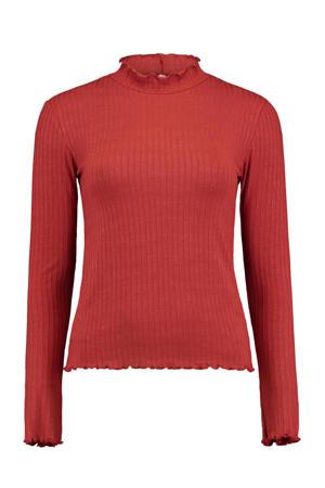 T-shirt LS V TP Iris rood