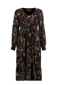Hailys blousejurk MD P DR Olivia met all over print zwart, Zwart