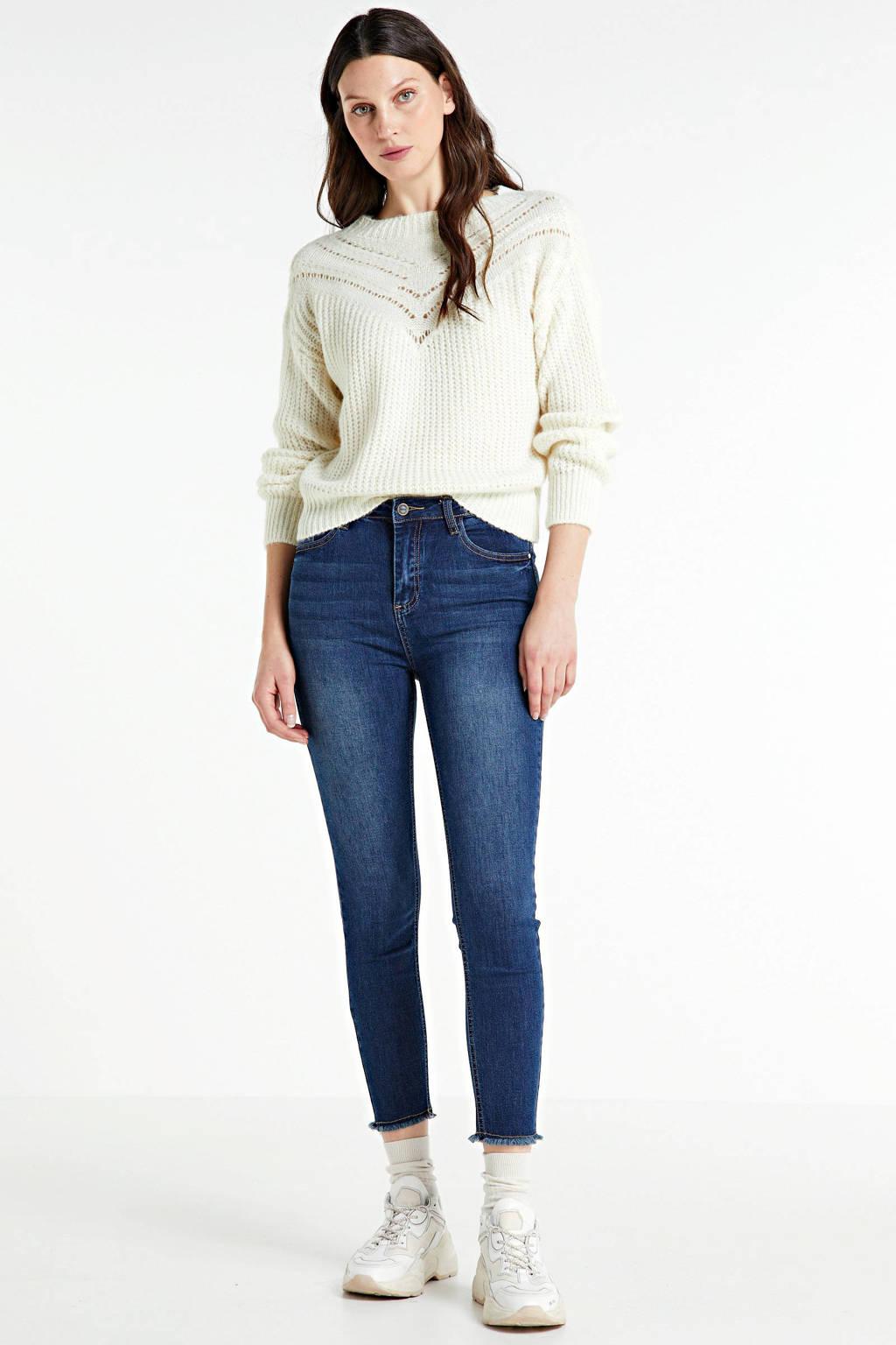 Hailys skinny jeans Toni donkerblauw, Donkerblauw