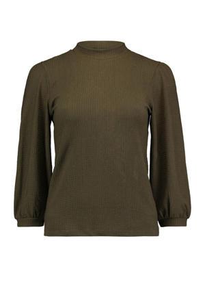 blouse 3/4 P TP Maja kaki