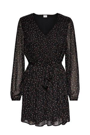 jurk Minna met all over print zwart