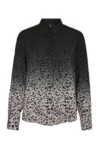 VERO MODA blouse met all over print grijs, Grijs