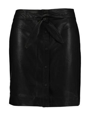 coated rok Lia zwart