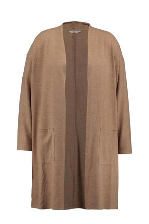 gemêleerd fijngebreid vest Nora camel