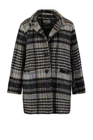 geruite  coat Semy grijs/zwart/lichtblauw