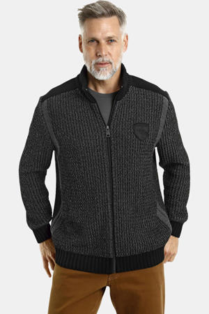 gemêleerd vest Plus Size Halsten zwart