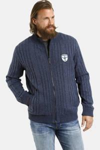 Jan Vanderstorm vest Plus Size Just donkerblauw, Donkerblauw
