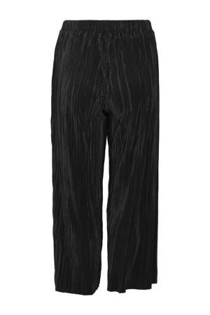 cropped loose fit broek zwart