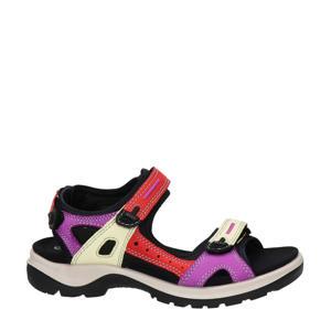 Offroad  suède outdoor sandalen rood/paars