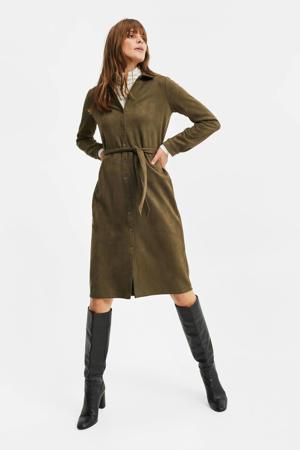 jurk olijfgroen