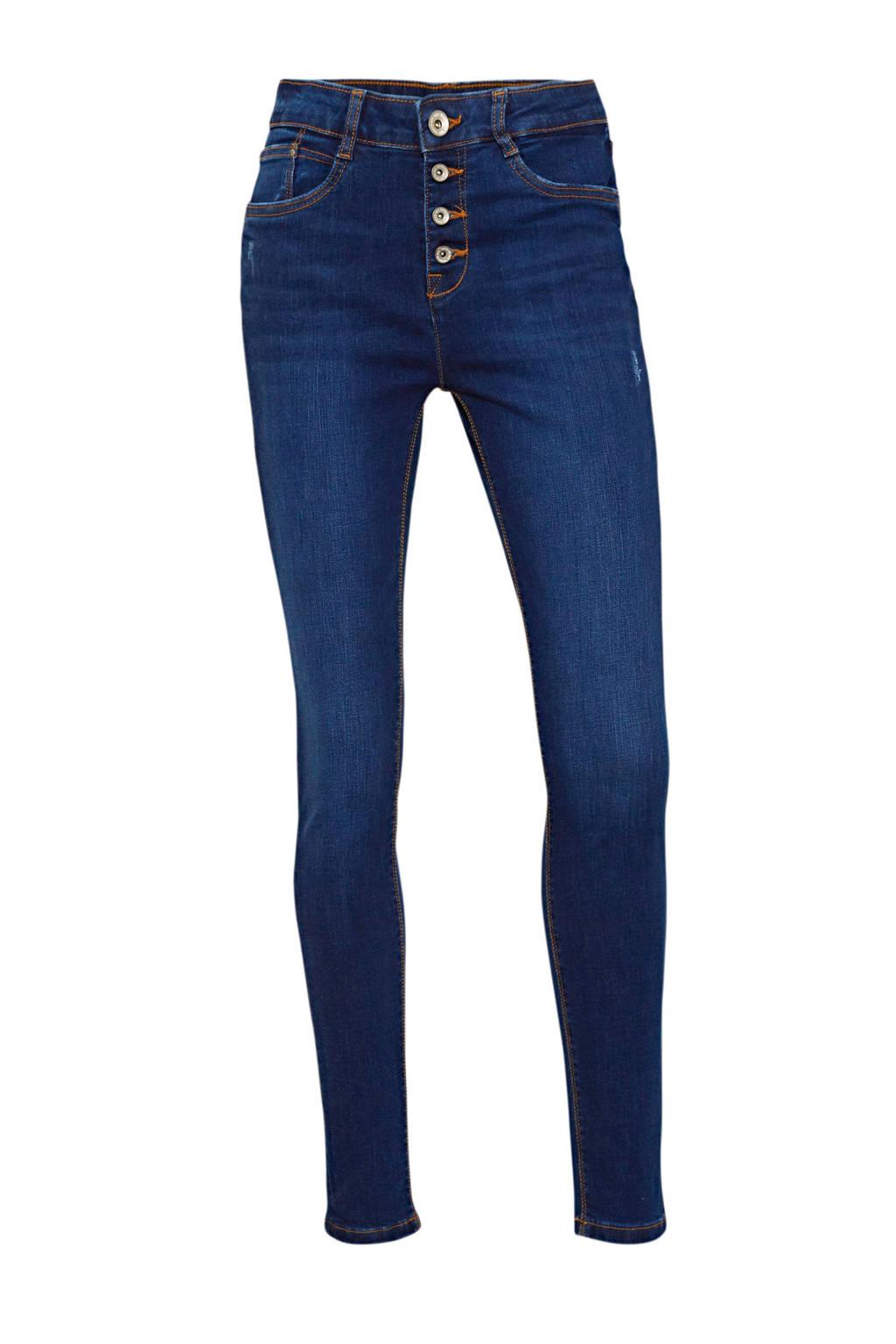 C&A Yessica high waist skinny jeans donkerblauw, Donkerblauw