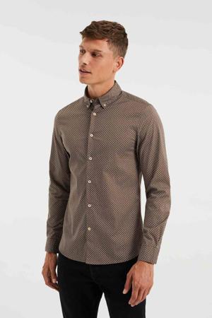 slim fit overhemd met all over print star anise