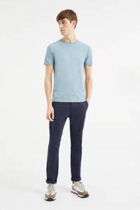 WE Fashion T-shirt met biologisch katoen lichtblauw, Lichtblauw
